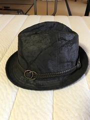 中折れハット 帽子 ブラック