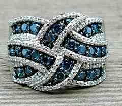 1円〜◆sapphire&diamond cross RING 15号
