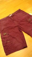 JETLAGカーゴハーフパンツ紫 パープル サイズW42→W44 ウエスト114cm