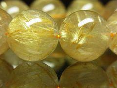 高級天然石 タイチンルチルクォーツブレスレット 16mm数珠 金針水晶