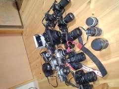 ジャンク フィルム カメラ まとめ売り 15台望遠レンズ 一眼レフ