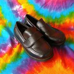 19cm□軽量パイソン柄型押し切り替え革靴■ローファー