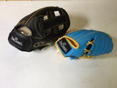 スポルティング 野球グローブ 親子セット 球付 ガード付 黒水色