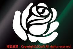 薔薇バラ/ステッカー(白/roseローズ