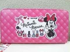 Disney/ミニーマウスラウンドファスナー長財布