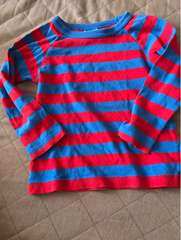 F.O.KIDS赤青ボーダーTシャツ