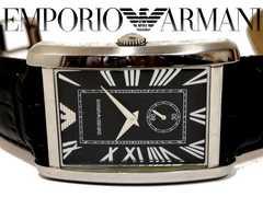 良品 1スタ☆エンポリオアルマーニ【スモセコ】重厚な腕時計