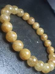 【天然石】◆金針◆ルチルクォーツ◆数珠◆ブレスレット◆