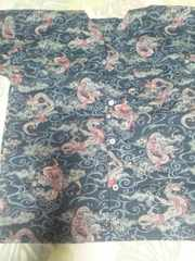 ☆新柄紺×雲海龍玉柄ダボシャツ150