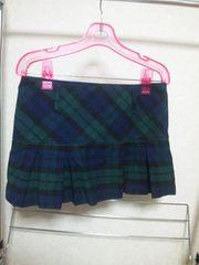 CECIL McBEEウールのプリーツミニスカート