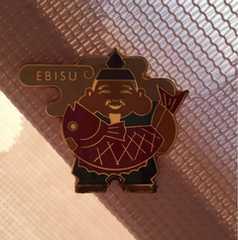 七福神 恵比寿様 ピンバッチ EBISU おめでたい  縁起物 めで鯛