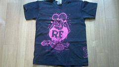 ☆古着/半袖Tシャツ【ラットフィンク/黒×紫】RATFINK