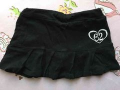 ☆RONI120位?ML女の子ブラックプリーツスカート刺繍ロゴ☆