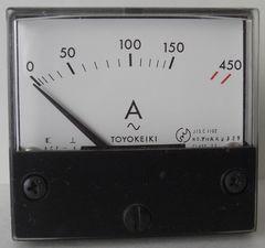 アナログAC電流メーター450A,2個未使用在庫処分!!No1
