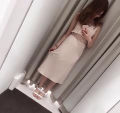 即完売★デイライルノアール★ウエストレースロングタンクワンピース ベージュ/F 新品タグ付