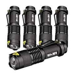 高輝度LED懐中電灯 超小型・軽量 携帯型5個セット入り
