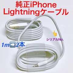 純正iPhoneライトニングケーブル(1m→2本)
