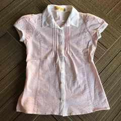 セシルマクビー 白ピンク ストライプシャツ  美品