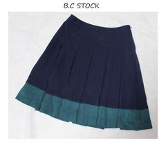 B.C STOCK*simplicite裾ライン*ボックスプリーツスカート(38)used