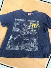 紺/スパイダーマン/半袖/Tシャツ/140�p