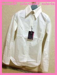 ☆リエンダ☆新品5775円♪ビジューボタンくびれストレッチシャツ