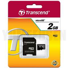 即決動作保証 Transcend トランセンド microSD 2GB マイクロSD 正規品