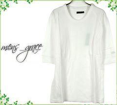 新品 7分袖Tシャツ カットソー ラグラン 無地 白ホワイト S