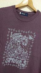 スプロールズ★波Tシャツパープルナチュラル草花自然SPRAWLS湘南サーフィンボードコーデ