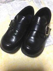 卒園 入学 男の子  フォーマル靴 19.5