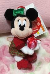 ディズニークリスマス2017☆ミニーマウスぬいぐるみバッジ☆