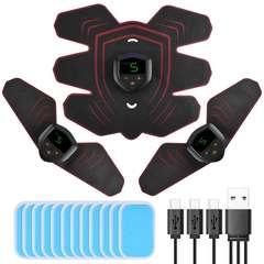 EMS 腹筋ベルト 腹筋パッド  USB充電式 9段階強度 6種類モード