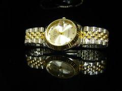 新品★腕時計 コンビ・ホワイト/ロレックス好きに