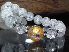 四神獣四体彫り14ミリクラック水晶12ミリトルネード水晶