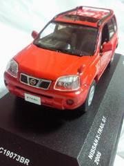 京商 1/43 日産自動車 NISSAN X-TRAIL GT 2005 ミニカー レッド 箱