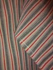 粋な銀ラメ*縞☆小紋正絹袷150未使用レタP