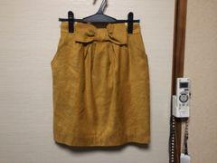クレイサス☆ウエストリボンスエード調スカート