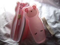 ひつじ弁当箱スリムランチボックス二段ピンク入れ子レンジ新品