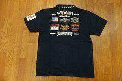 新品★バンソン★Vanson★10ワッペン★ポロシャツ★黒★XL