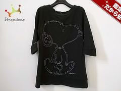 JILL STUART(ジルスチュアート) トレーナーM レディース 黒×白 刺繍/スヌーピー