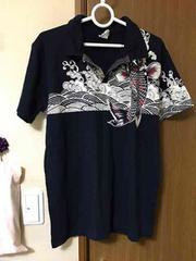 1366☆鯉柄ポロシャツ