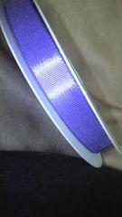 新品ラベンダー 紫リボン約50m たっぷりサイズラッピングや 手芸に 〓