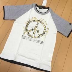 新品◆ゴールドピース柄◆半袖Tシャツ◆150
