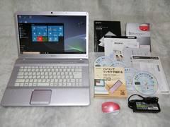 上質な金VAIO Core2Duo2.53/500/4G/Win10/ブルーレイ/地デジ_170