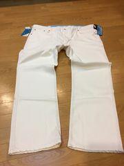 EDWIN  ストレートデニム  超ストレッチ  ジャージーズ  白  size4L  126cm