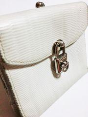 フェラガモ/Feragamo ロゴ鍵デザイン革製二つ折り財布