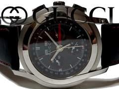 正規 良品★グッチ 定価13万 5500【クロノグラフ】メンズ腕時計