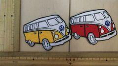 NO.273 アイロンワッペン 2枚セット バス ワゴン車