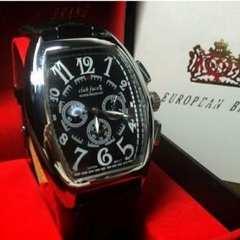 高級仕様メンズ腕時計★トノウ型【CF2】ブラック
