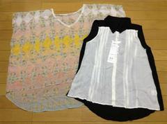JILL STUART(ジルスチュアート)ノースリーブシャツ+ポンチョカットソーセット新品