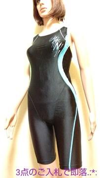 大きいL☆arena綺麗なネオンロゴOバック競泳水着4999☆3点で即落